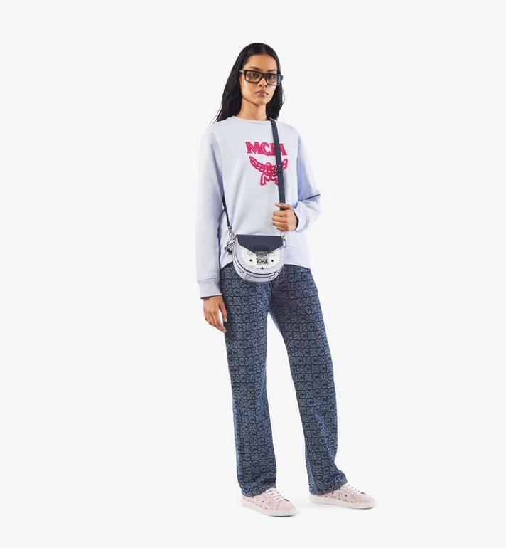 MCM Patricia Shoulder Bag in Color Block Visetos Pink MWSAAPA08VW001 Alternate View 5