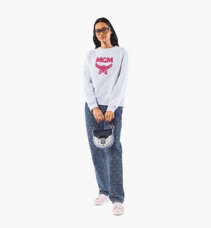 MCM Patricia Shoulder Bag in Color Block Visetos Pink MWSAAPA08VW001 Alternate View 6