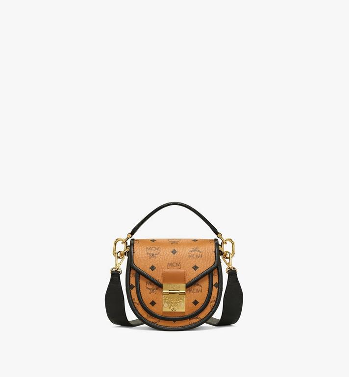 MCM Patricia Shoulder Bag in Visetos Leather Block Alternate View