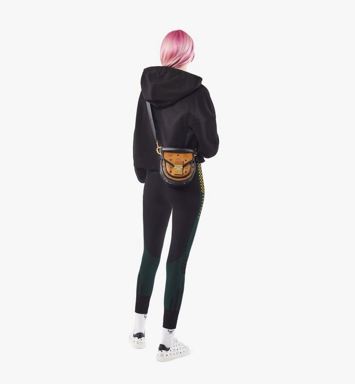 MCM Visetos 系列的拼色皮革 Patricia 肩揹包 Cognac MWSAAPA09CO001 Alternate View 5