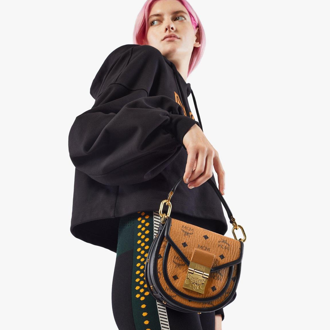 Patricia Shoulder Bag in Visetos Leather Block