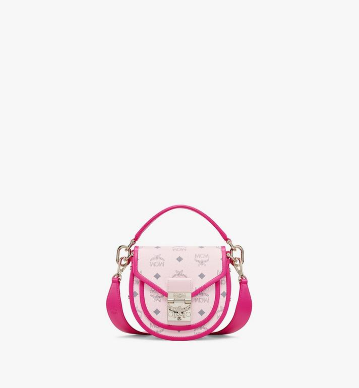 MCM Patricia Shoulder Bag in Visetos Leather Block Pink MWSAAPA09QH001 Alternate View 1