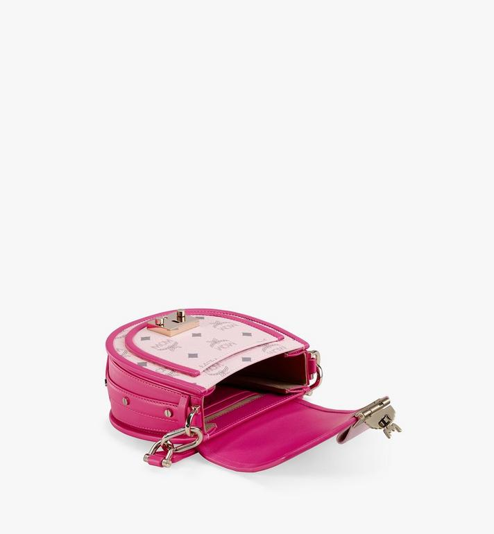 MCM Patricia Shoulder Bag in Visetos Leather Block Pink MWSAAPA09QH001 Alternate View 3