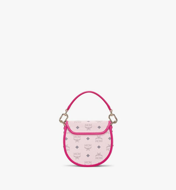 MCM Patricia Shoulder Bag in Visetos Leather Block Pink MWSAAPA09QH001 Alternate View 4