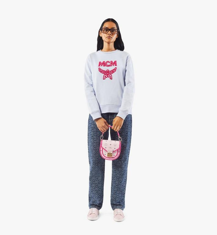 MCM Patricia Shoulder Bag in Visetos Leather Block Pink MWSAAPA09QH001 Alternate View 6