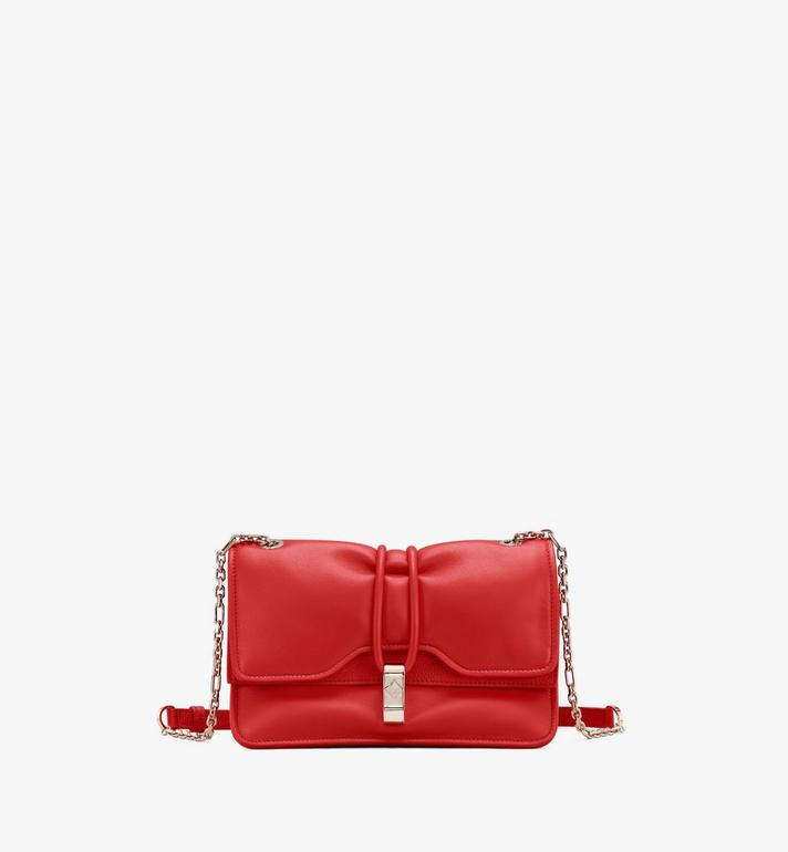 MCM 柔軟皮革糖果肩揹包 Red MWSASCY05R4001 Alternate View 1