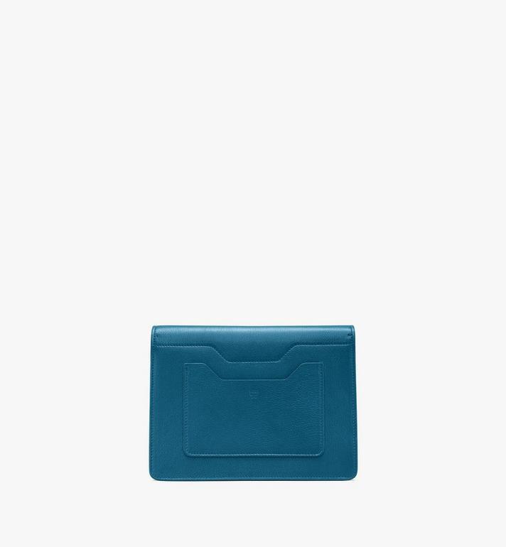 MCM Milano Shoulder Bag in Goatskin Leather Green MWSASDA01JF001 Alternate View 3
