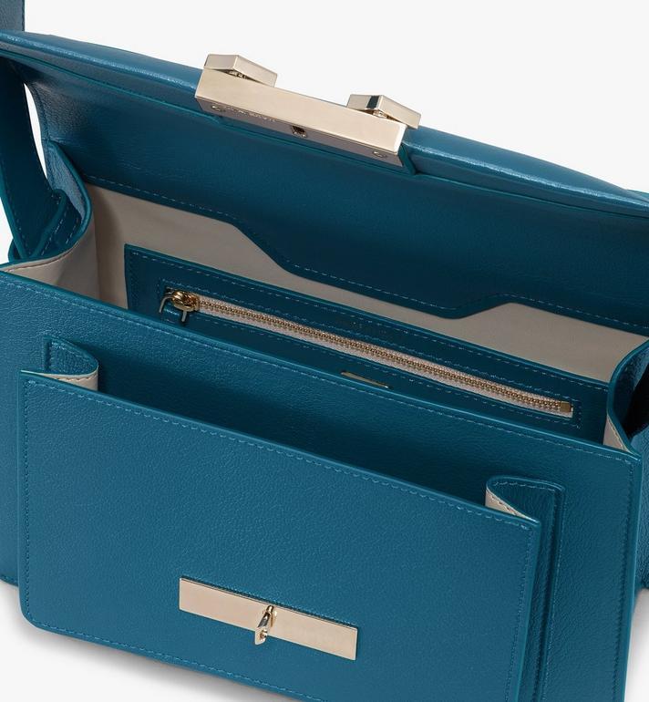 MCM Milano Shoulder Bag in Goatskin Leather Green MWSASDA01JF001 Alternate View 4