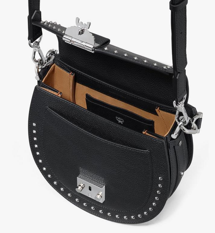 MCM Patricia Shoulder Bag in Studded Park Ave Leather Black MWSASPA01BK001 Alternate View 4