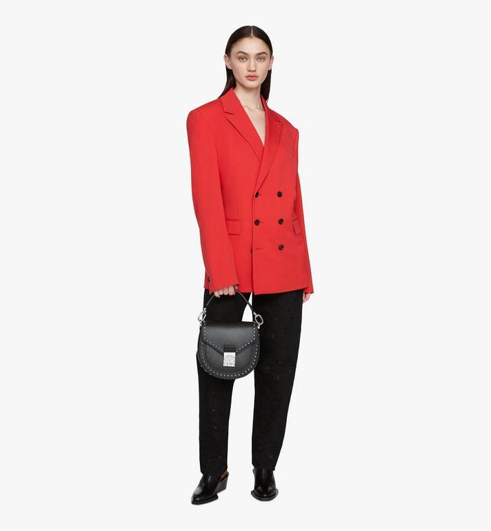 MCM Sac porté épaule Patricia en cuir clouté Park Avenue Black MWSASPA01BK001 Alternate View 5