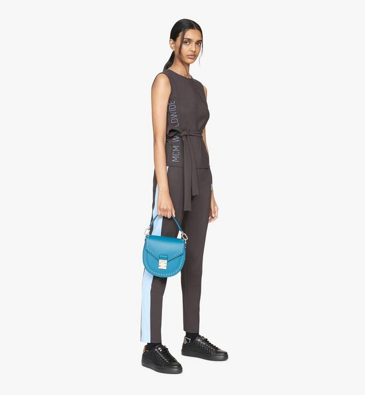 MCM Sac porté épaule Patricia en cuir clouté Park Avenue Green MWSASPA01JF001 Alternate View 5