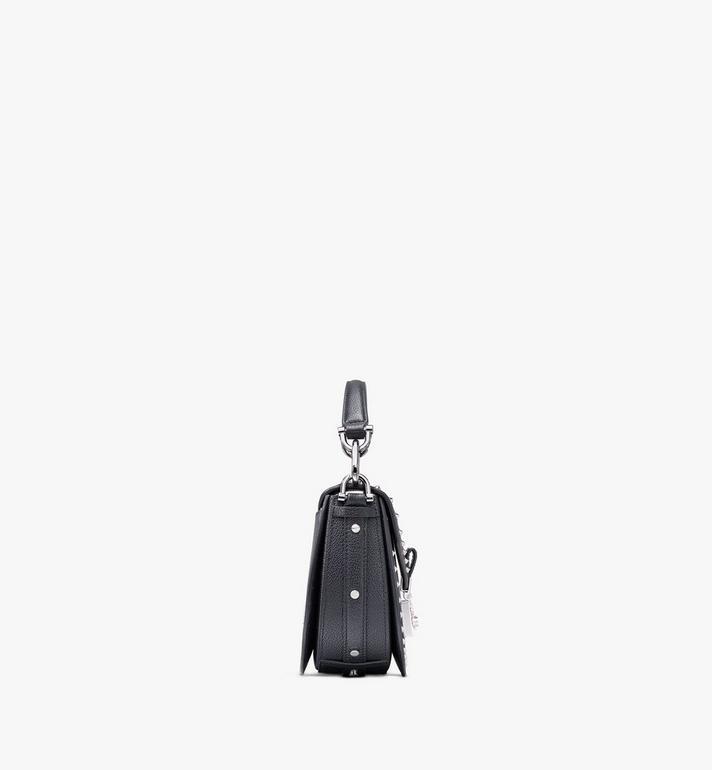 MCM Patricia Shoulder Bag in Studded Park Ave Leather Black MWSASPA02BK001 Alternate View 2
