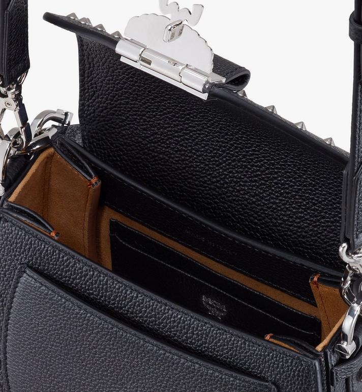 MCM Patricia Shoulder Bag in Studded Park Ave Leather Black MWSASPA02BK001 Alternate View 4