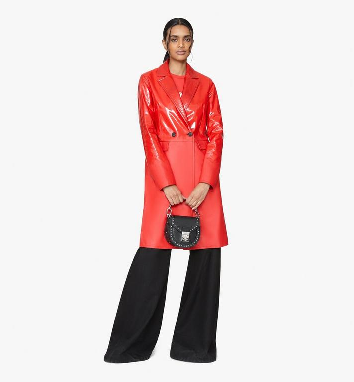 MCM Patricia Shoulder Bag in Studded Park Ave Leather Black MWSASPA02BK001 Alternate View 5