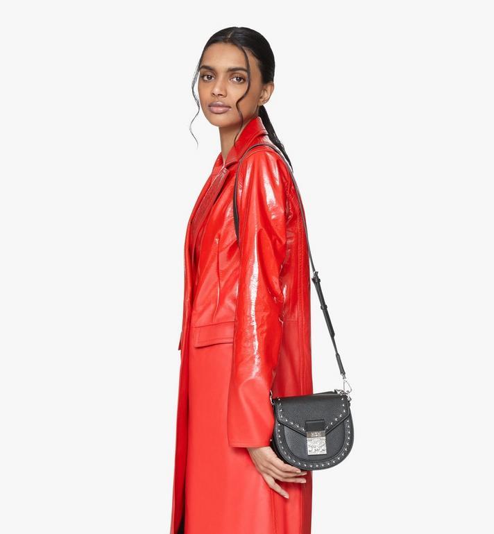 MCM Patricia Shoulder Bag in Studded Park Ave Leather Black MWSASPA02BK001 Alternate View 6
