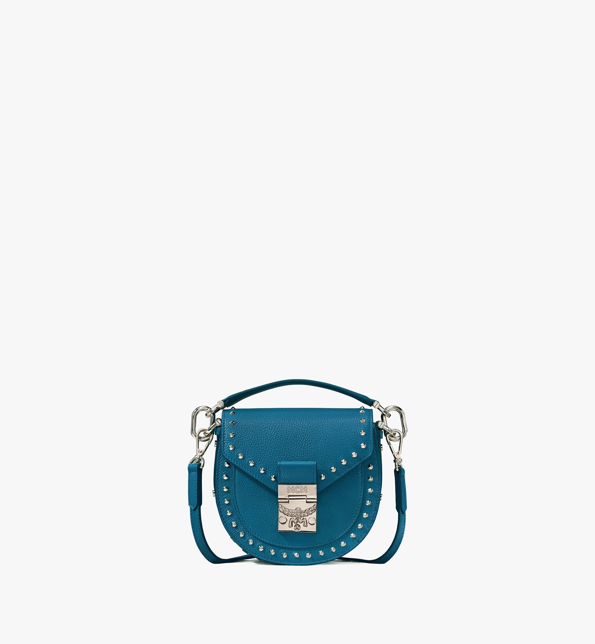 MCM Patricia Shoulder Bag in Studded Park Ave Leather Green MWSASPA02JF001 Alternate View 1