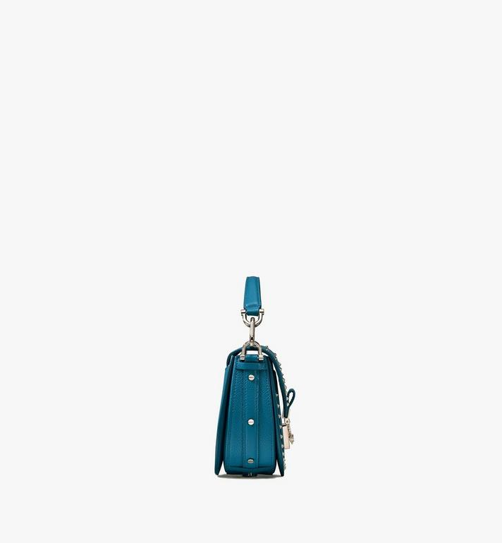 MCM Patricia Shoulder Bag in Studded Park Ave Leather Blue MWSASPA02JF001 Alternate View 2