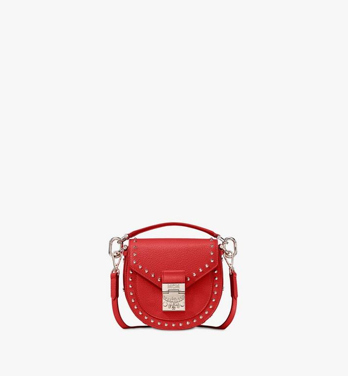 MCM Patricia Park Ave皮革铆钉肩背包 Red MWSASPA02R4001 Alternate View 1