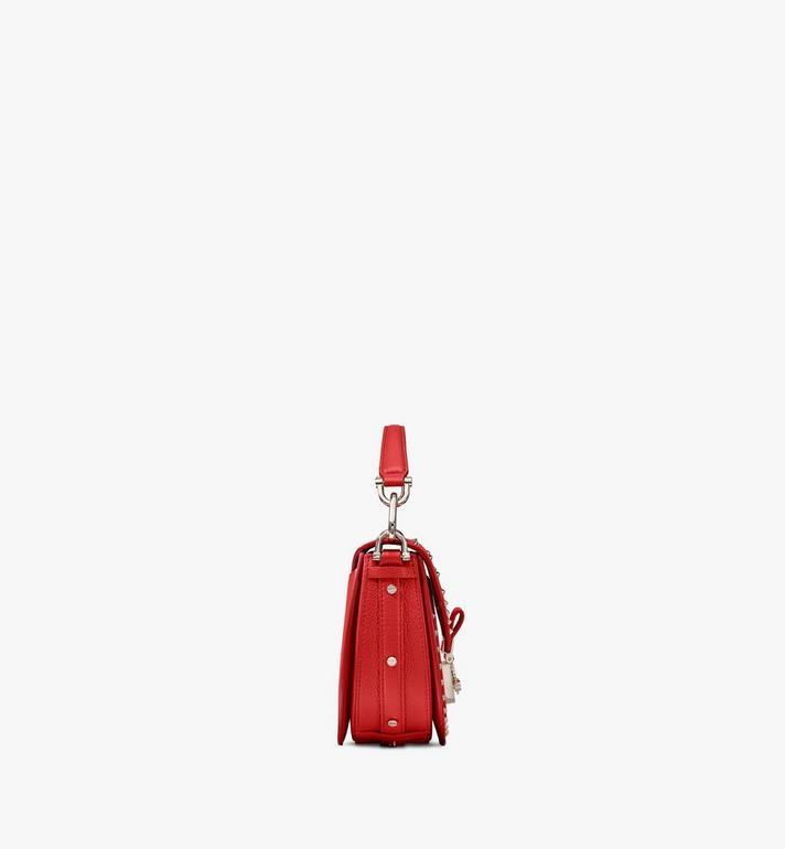 MCM Patricia Park Ave皮革铆钉肩背包 Red MWSASPA02R4001 Alternate View 2