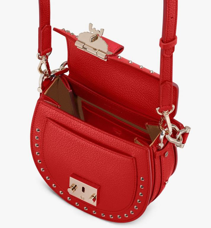 MCM Patricia Shoulder Bag in Studded Park Ave Leather Red MWSASPA02R4001 Alternate View 4