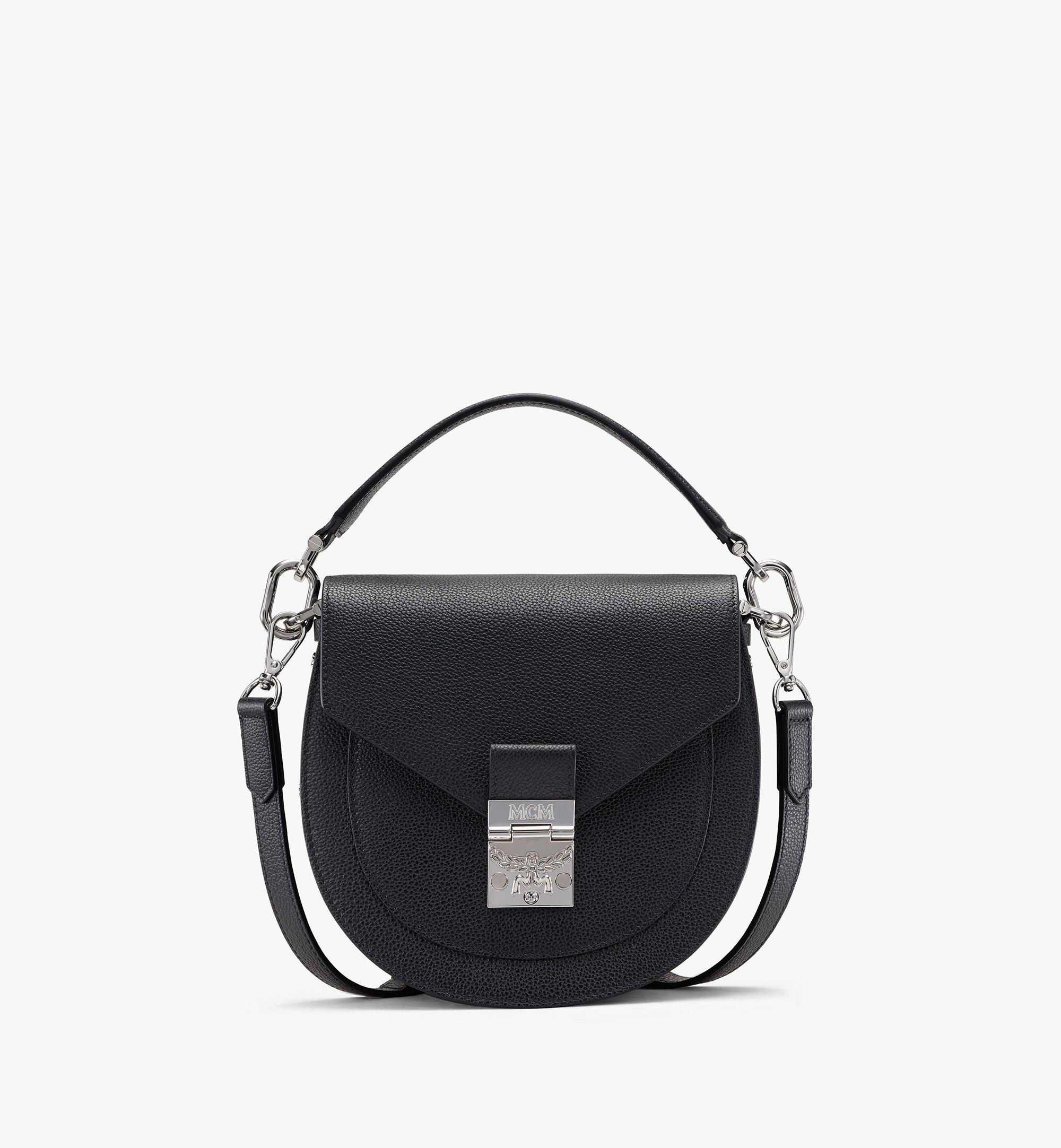 MCM Patricia Shoulder Bag in Park Avenue Leather Black MWSASPA03BK001 Alternate View 1