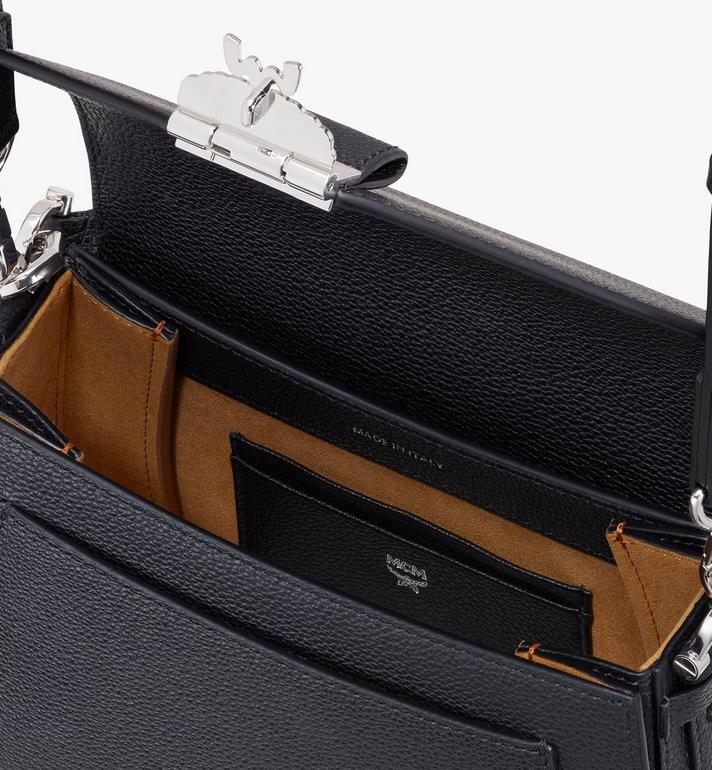 MCM Patricia Shoulder Bag in Park Avenue Leather Black MWSASPA03BK001 Alternate View 4