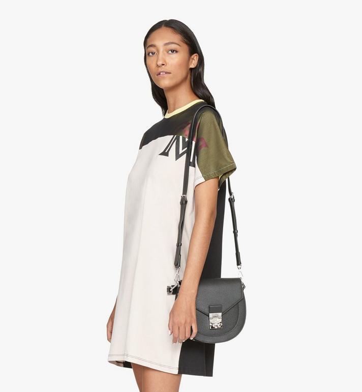 MCM Patricia Shoulder Bag in Park Avenue Leather Black MWSASPA03BK001 Alternate View 6