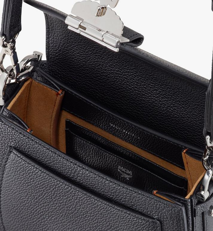 MCM Patricia Shoulder Bag in Park Avenue Leather Black MWSASPA04BK001 Alternate View 4