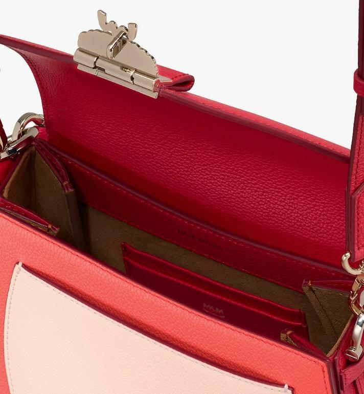 MCM Patricia Shoulder Bag in Color Block Leather Red MWSASPA05R4001 Alternate View 4