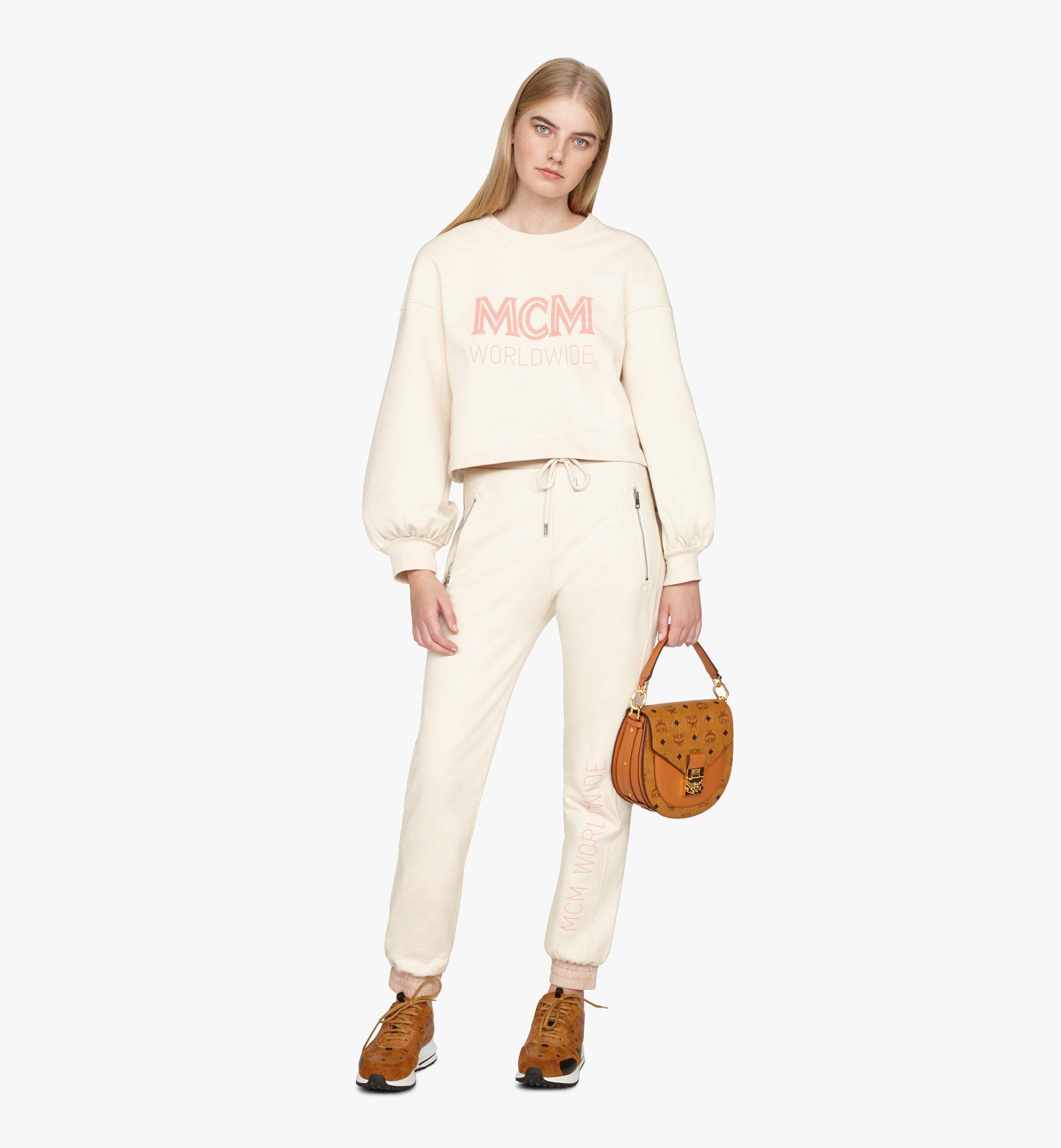 MCM Patricia Shoulder Bag in Visetos Cognac MWSASPA07CO001 Alternate View 6