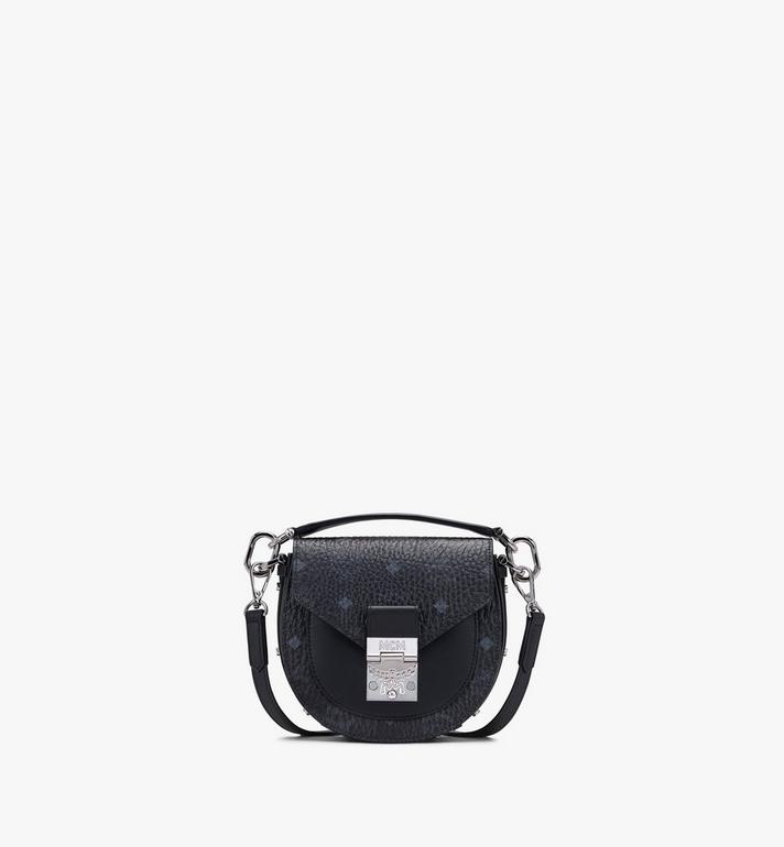 MCM Patricia Mini-Schultertasche in Visetos Black MWSASPA08BK001 Alternate View 1