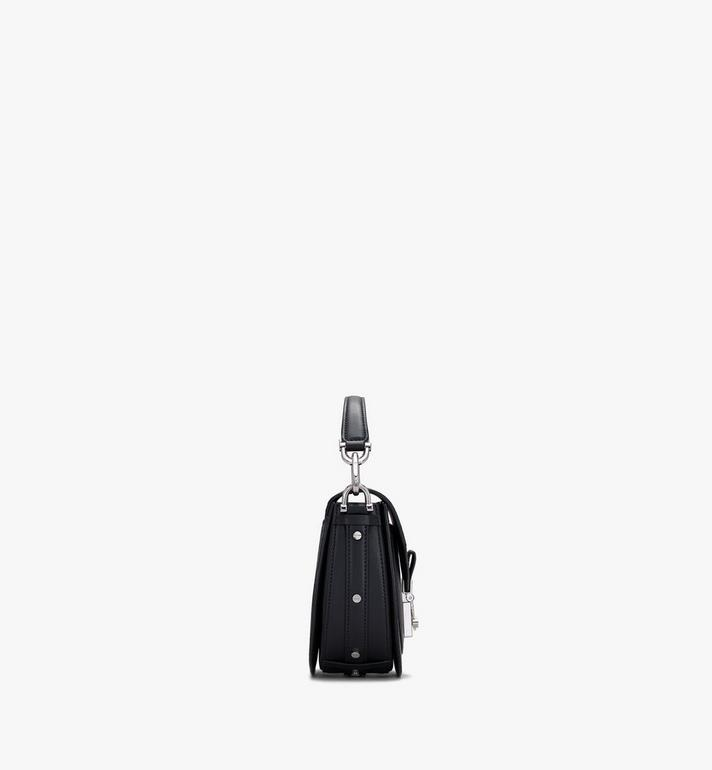 MCM Patricia Mini Shoulder Bag in Visetos Black MWSASPA08BK001 Alternate View 2