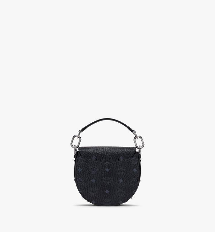 MCM Mini sac porté épaule Patricia en Visetos Black MWSASPA08BK001 Alternate View 3