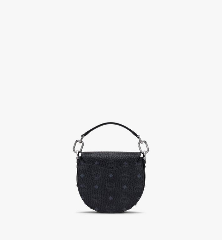 MCM Patricia Mini-Schultertasche in Visetos Black MWSASPA08BK001 Alternate View 3