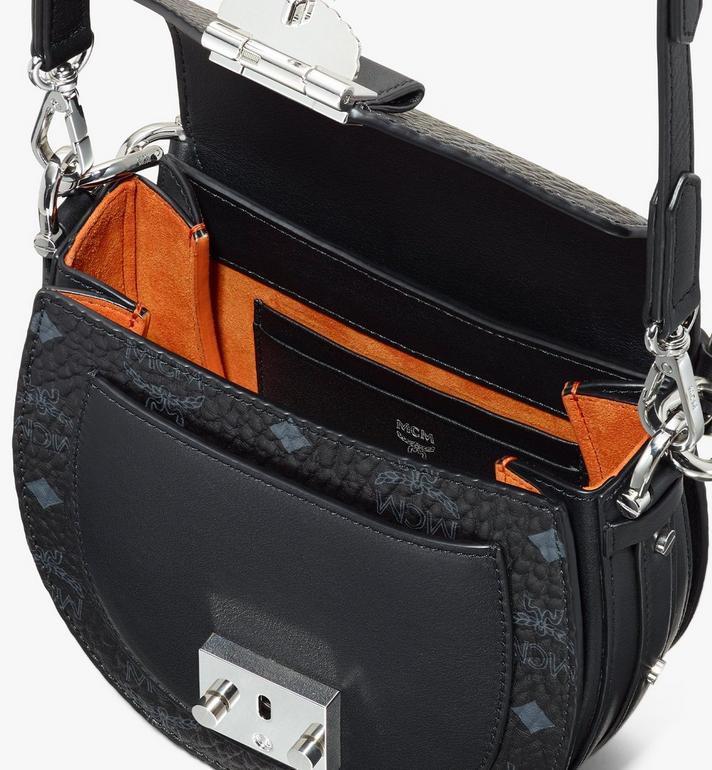 MCM Patricia Mini Shoulder Bag in Visetos Black MWSASPA08BK001 Alternate View 4
