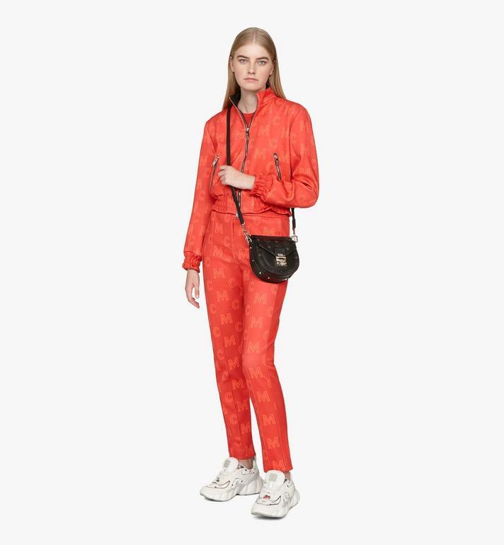 MCM Patricia Mini Shoulder Bag in Visetos Black MWSASPA08BK001 Alternate View 5