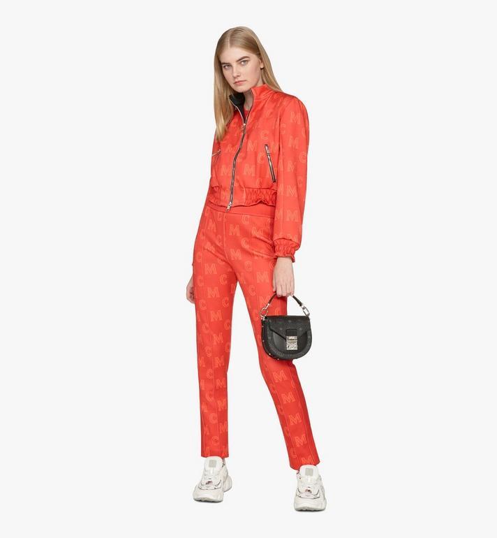 MCM Patricia Mini Shoulder Bag in Visetos Black MWSASPA08BK001 Alternate View 6