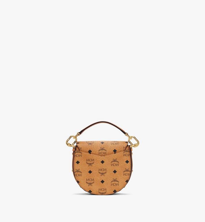MCM Patricia Mini Shoulder Bag in Visetos Cognac MWSASPA08CO001 Alternate View 3