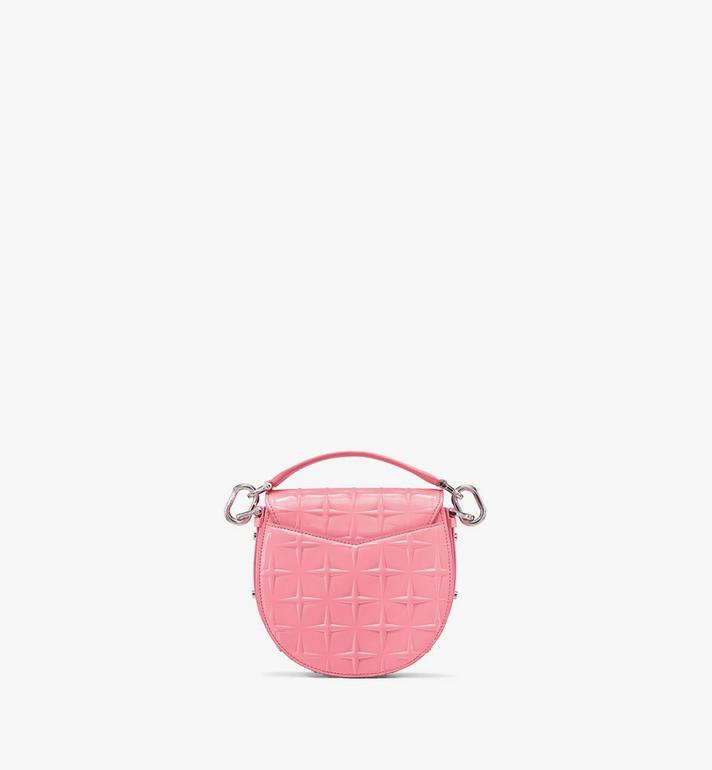 MCM Patricia Shoulder Bag in Diamond Patent Leather Pink MWSASPA14QG001 Alternate View 3