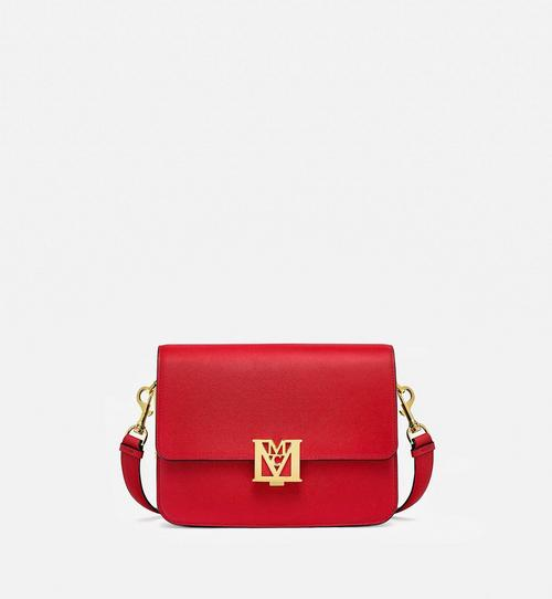 Mena Shoulder Bag in Visetos Leather Block