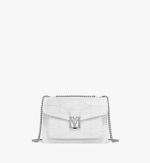 Mena Quilted Shoulder Bag in Crushed Leather