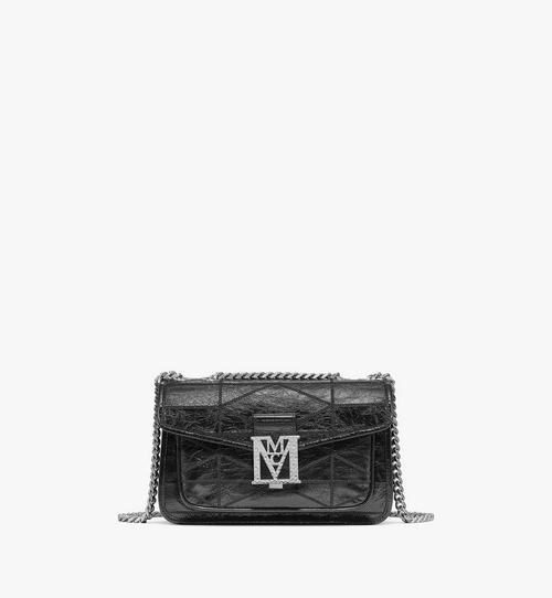Gesteppte Mena Schultertasche in Crushed Leather