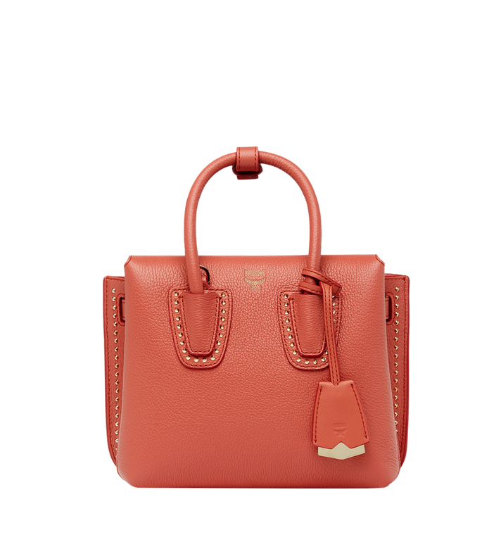Milla Tote In Studded Outline Leather, Pw
