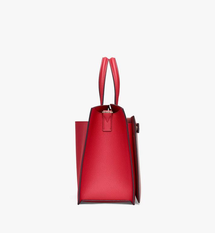 MCM Milano Tote Bag in Calfskin Leather Red MWT9ADA11RF001 Alternate View 2