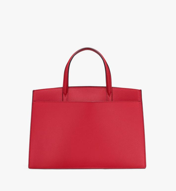 MCM Milano Tote Bag in Calfskin Leather Red MWT9ADA11RF001 Alternate View 3