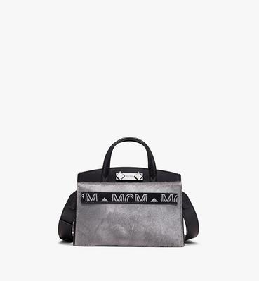 Milano Mini Tote Bag in Metallic Haircalf
