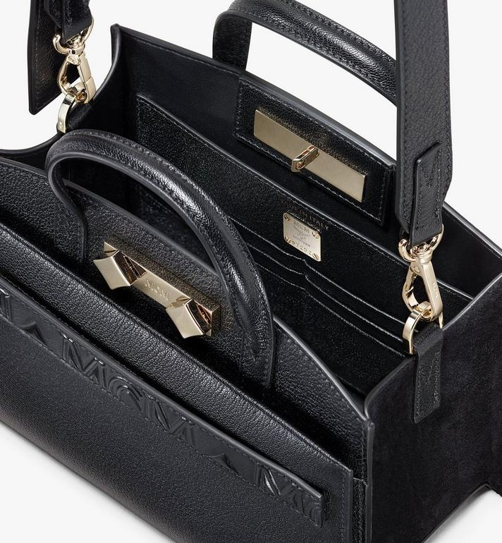 MCM Mini Milano Tote in Capra Leather Black MWT9ADA16BK001 Alternate View 4