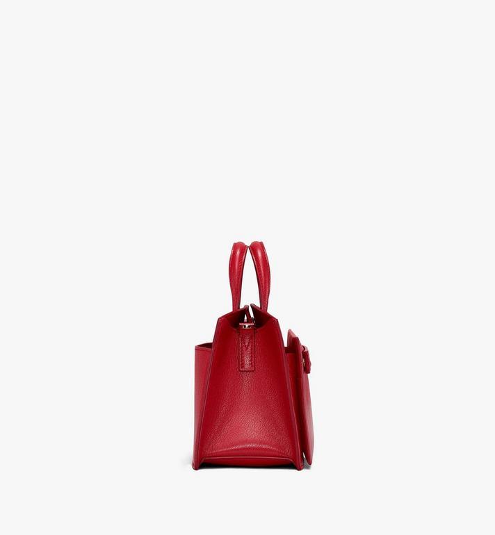 MCM Mini Milano Tote in Patent Leather Red MWT9ADA18RU001 Alternate View 2