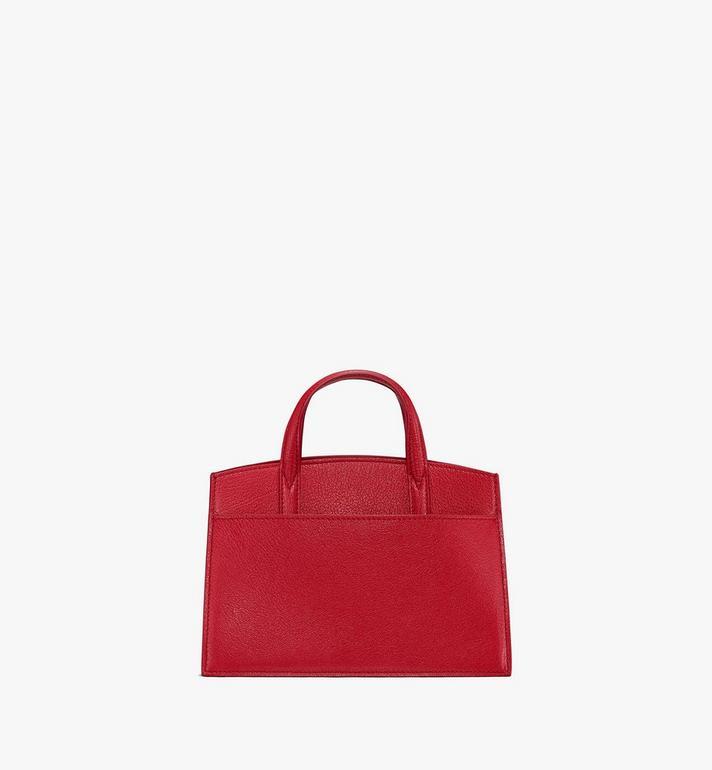 MCM Mini Milano Tote in Patent Leather Red MWT9ADA18RU001 Alternate View 3