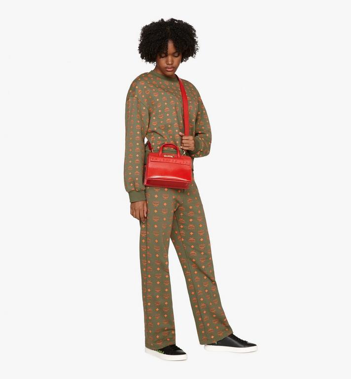 MCM Mini Milano Tote in Patent Leather Red MWT9ADA18RU001 Alternate View 5